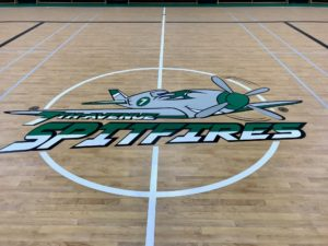 Photo of the hardwood gym floor Titan Sport Systems installed at Assiniboia Seventh Avenue School in Assiniboia, Saskatchewan